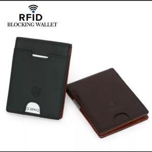 Other - Men's RFID Blocking  slim bifold leather wallet